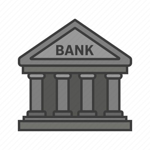 bank, building, currency, money, worth icon