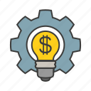 business, idea, inspiration, lamp, money icon