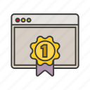award, certificate, money, page, reward icon
