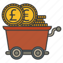 cash, cent, dollar, money, trolley icon