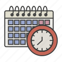 calendar, day, time, work icon