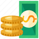 bank, bill, cash, coin, dollar, money, savings icon