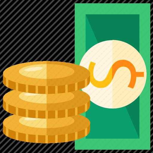 bank, bill, cash, coin, dollar, money, savings icon