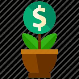 grow, money icon