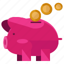 bank, coin, finance, pig, piggy, savings icon