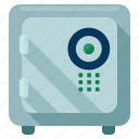 bank, safe, safety, savings, secure, security icon