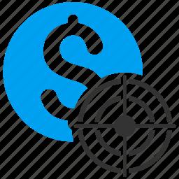 bullseye, business aim, location, marketing, point, strategy, target icon