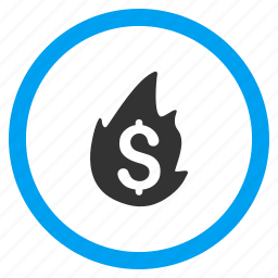 bankruptcy, burn, fire disaster, flame, hot, insurance, problem icon