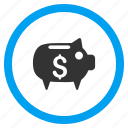 account, banking, finance, pig, piggy bank, savings, treasure icon