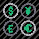 currency, dollar, money, saving, yen