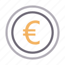 coins, currency, euro, finance, money icon
