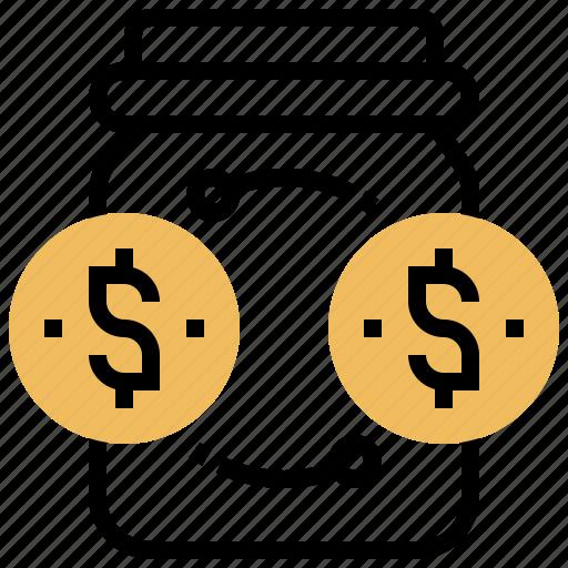 Deposit, financial, jar, money, saving icon - Download on Iconfinder