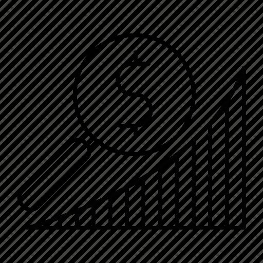 diagram, graph, market, research icon
