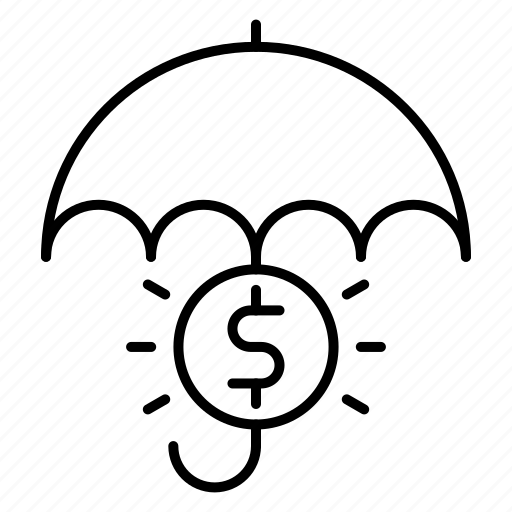 banking, insurance, money, umbrella icon