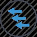 arrows, business, left, market, stock icon