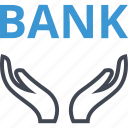 bank, banking, hands, online, web icon