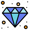 and, business, diamond, finance, jewelry icon
