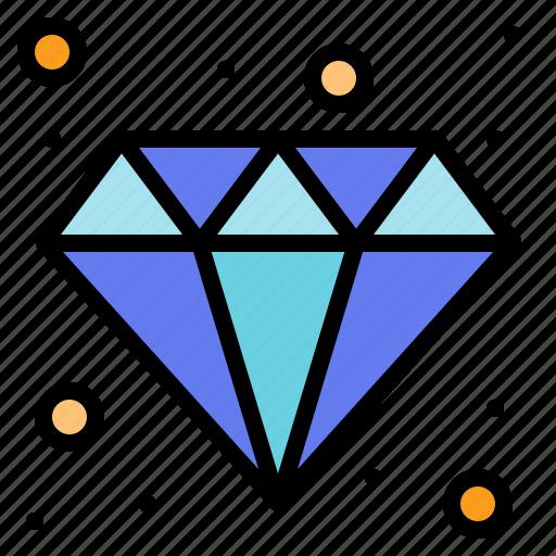 and, business, diamond, finance, jewelry icon