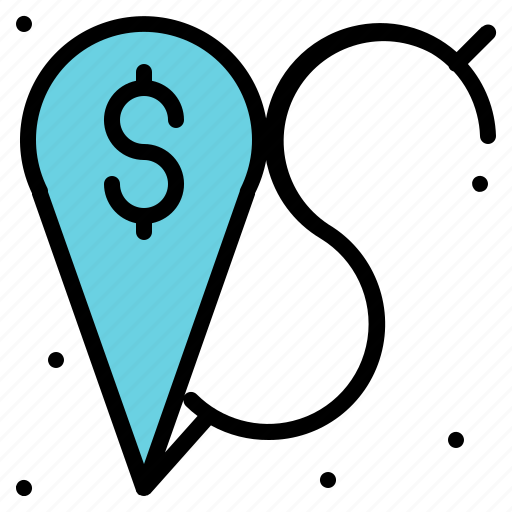 and, location, maps, money, placeholder icon