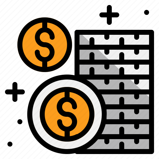 business, cash, coins, money icon