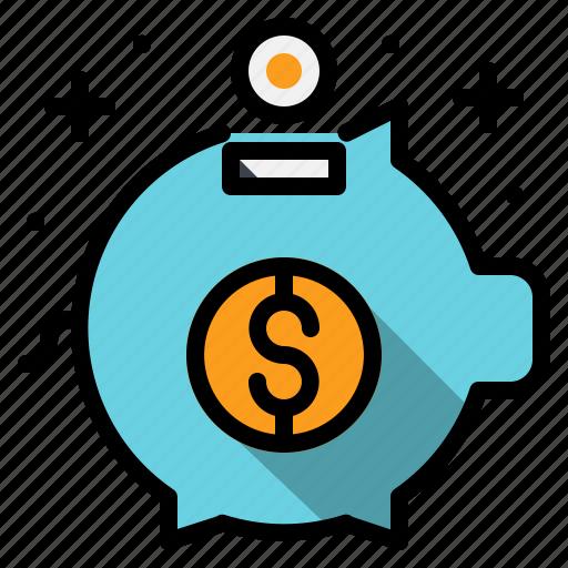 bank, coin, money, piggy, save icon