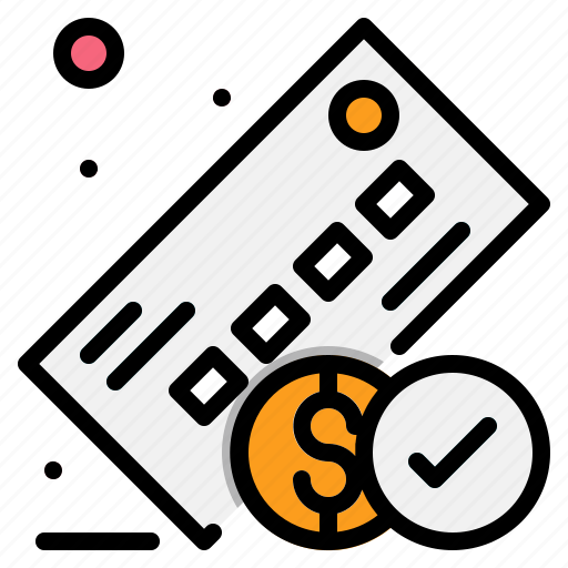 bank, check, checked, money, payment icon