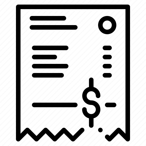 bill, interface, invoice, receipt icon