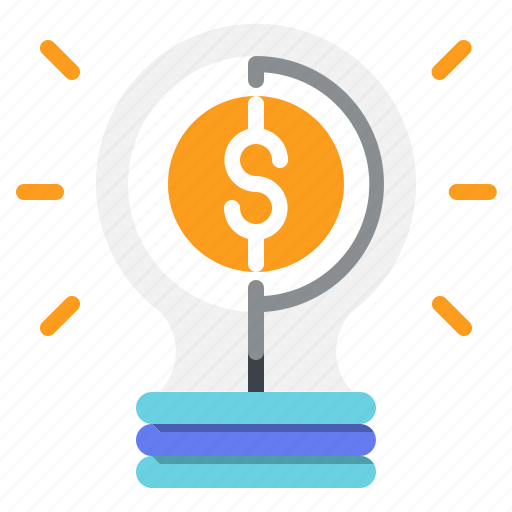 bulb, business, idea, investment, light, money icon