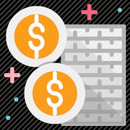 business, cash, coins, money icon