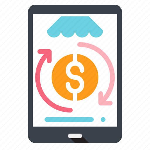 and, business, commerce, electronics, finance, mobile, online, payment, phone, shopping icon