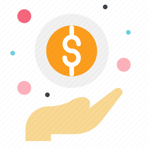 business, coins, currency, gesture, hand, money, payment icon