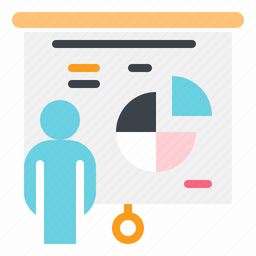 business, financial, presentation, statistics, stats icon