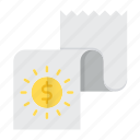 banking, document, financial, paper, report icon