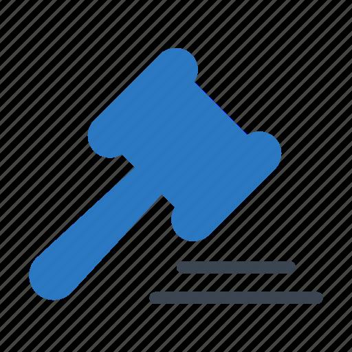 auction, court, gravel, hammer, law icon
