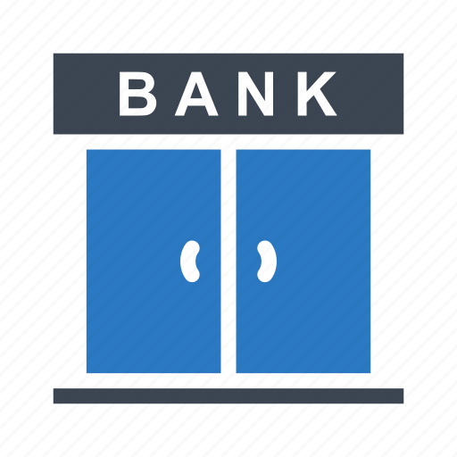bank, building, close, door, saving icon
