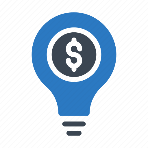 banking, bulb, creative, idea, innovation icon