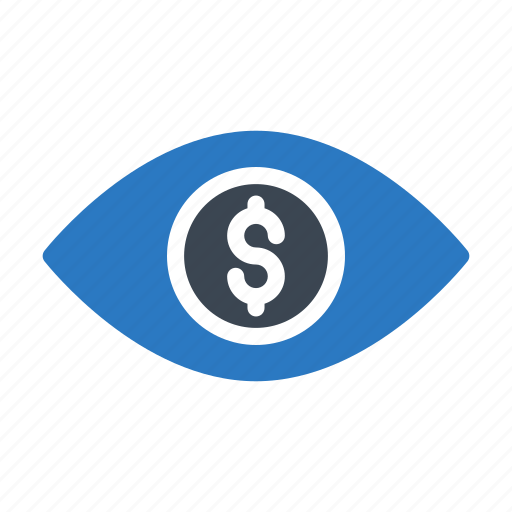 Bank, dollar, eye, look, view icon - Download on Iconfinder