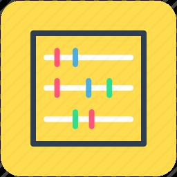 abacus, calculation, calculator icon