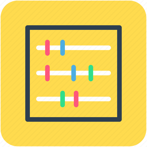 abacus, calculation, calculator icon