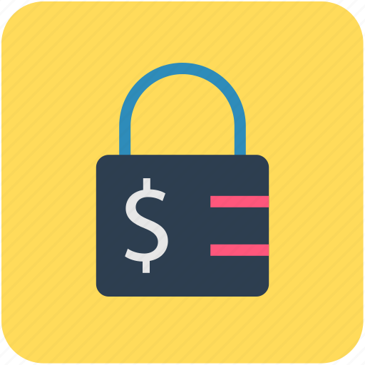 baking, dollar sign, fiance, money protection, padlock icon
