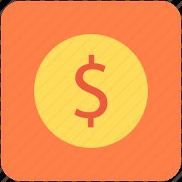 dollar, dollar currency, dollar sign, financial, money icon