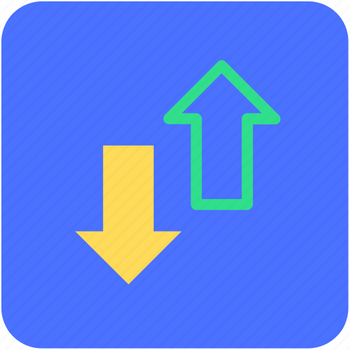 arrows, banking, finance, ups and downs icon
