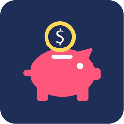 banking, deposit, finance, piggy bank, savings icon