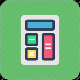 accounts, banking, calculation, calculator, finance, mathematics icon