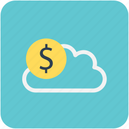 banking, cloud, dollar, finance, money icon
