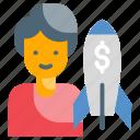 business, capital, management, shareholder, venture icon