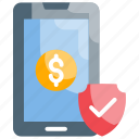 business, finance, mobile payment, money, processing icon