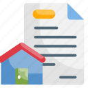 estate, mortgage, home, building, residential icon