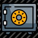 bank, locker, padlock, privacy, security icon
