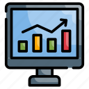 increase, analysis, technology, investment, stock market icon